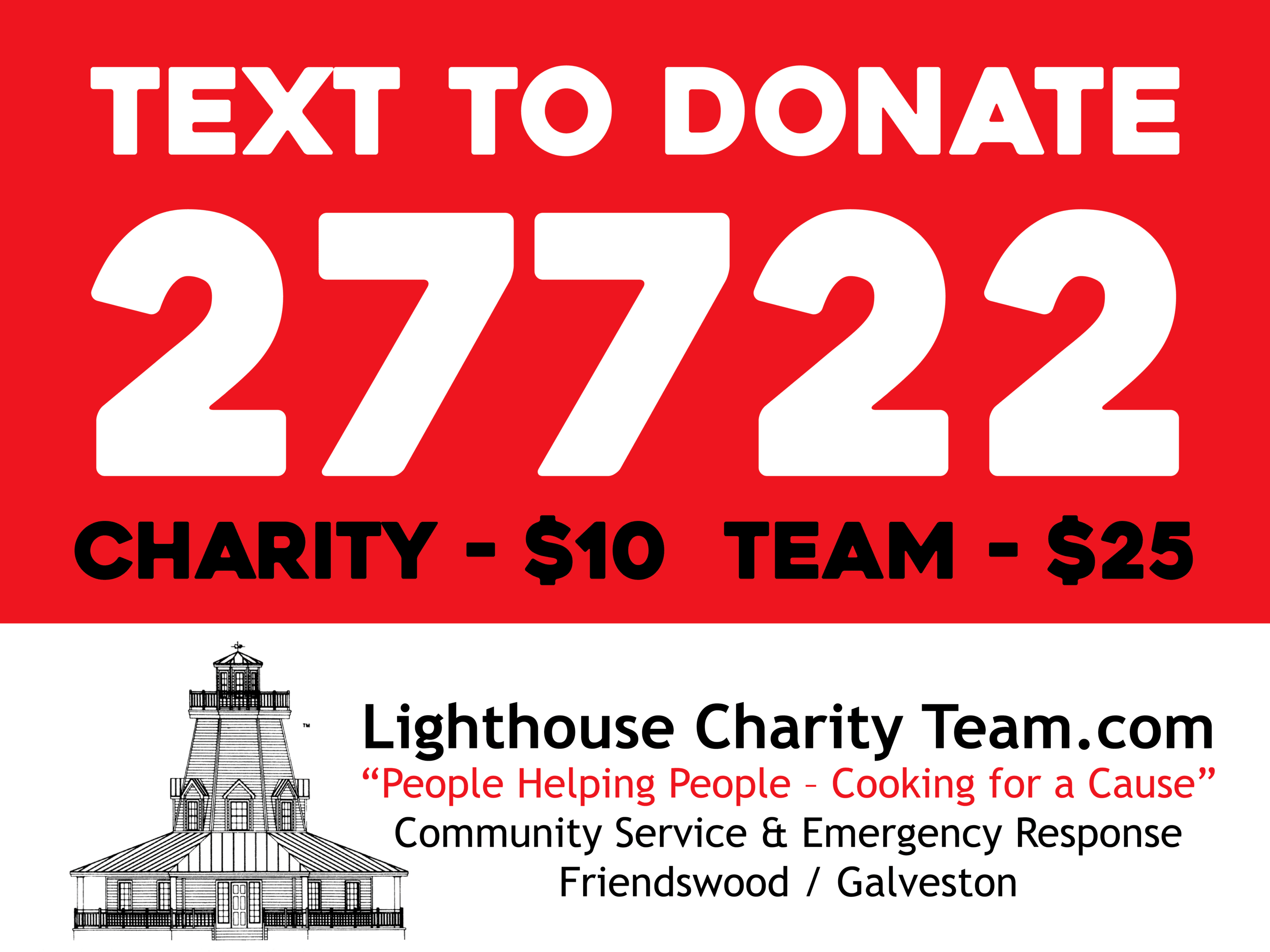 Lighthouse Charity Team_yardsign