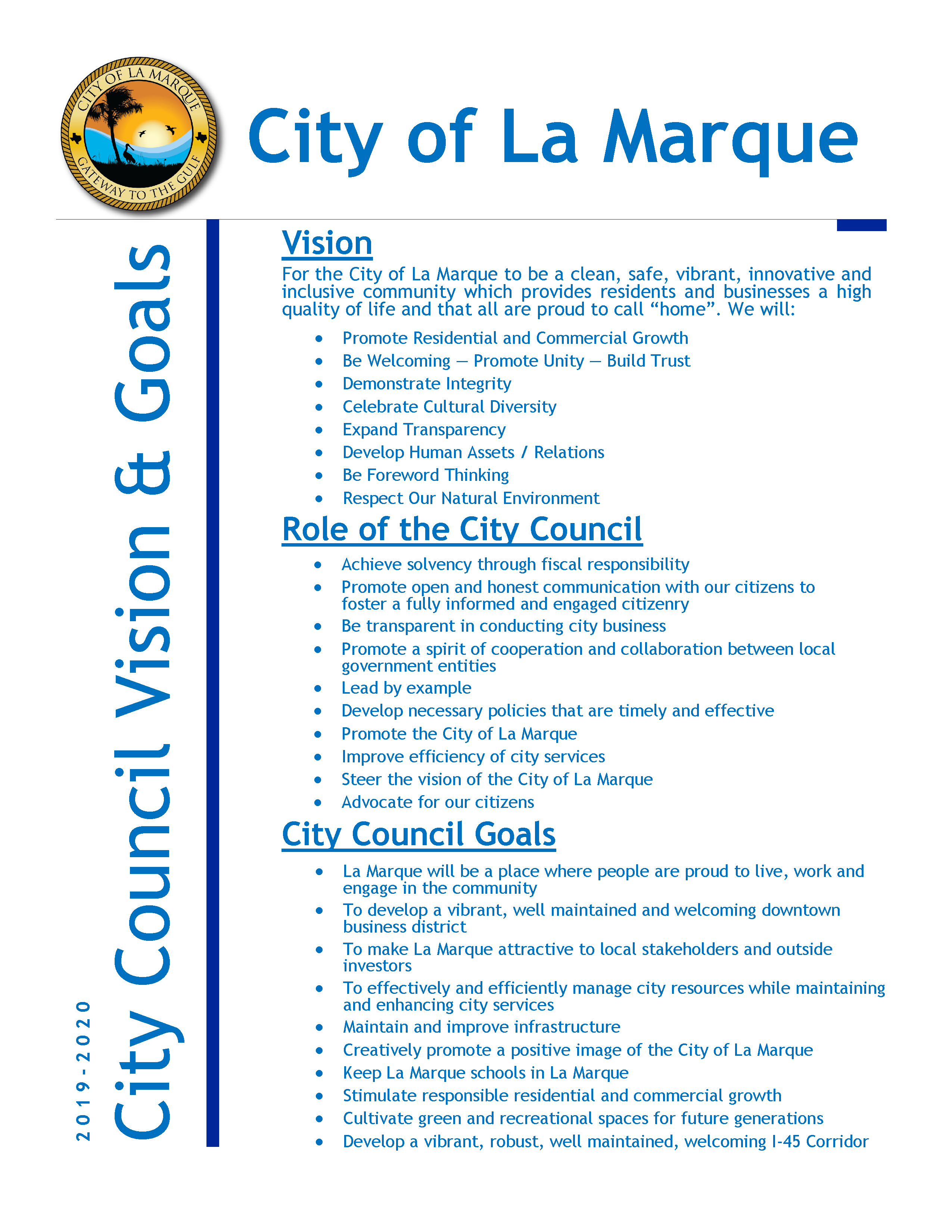 2019-2020 City Council Vision & Goals_page 1