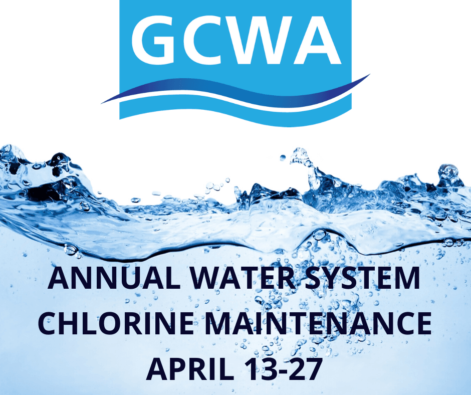 GCWA Chlorine maintenance announcement 2020_annual maintenance Facebook 2020 graphic