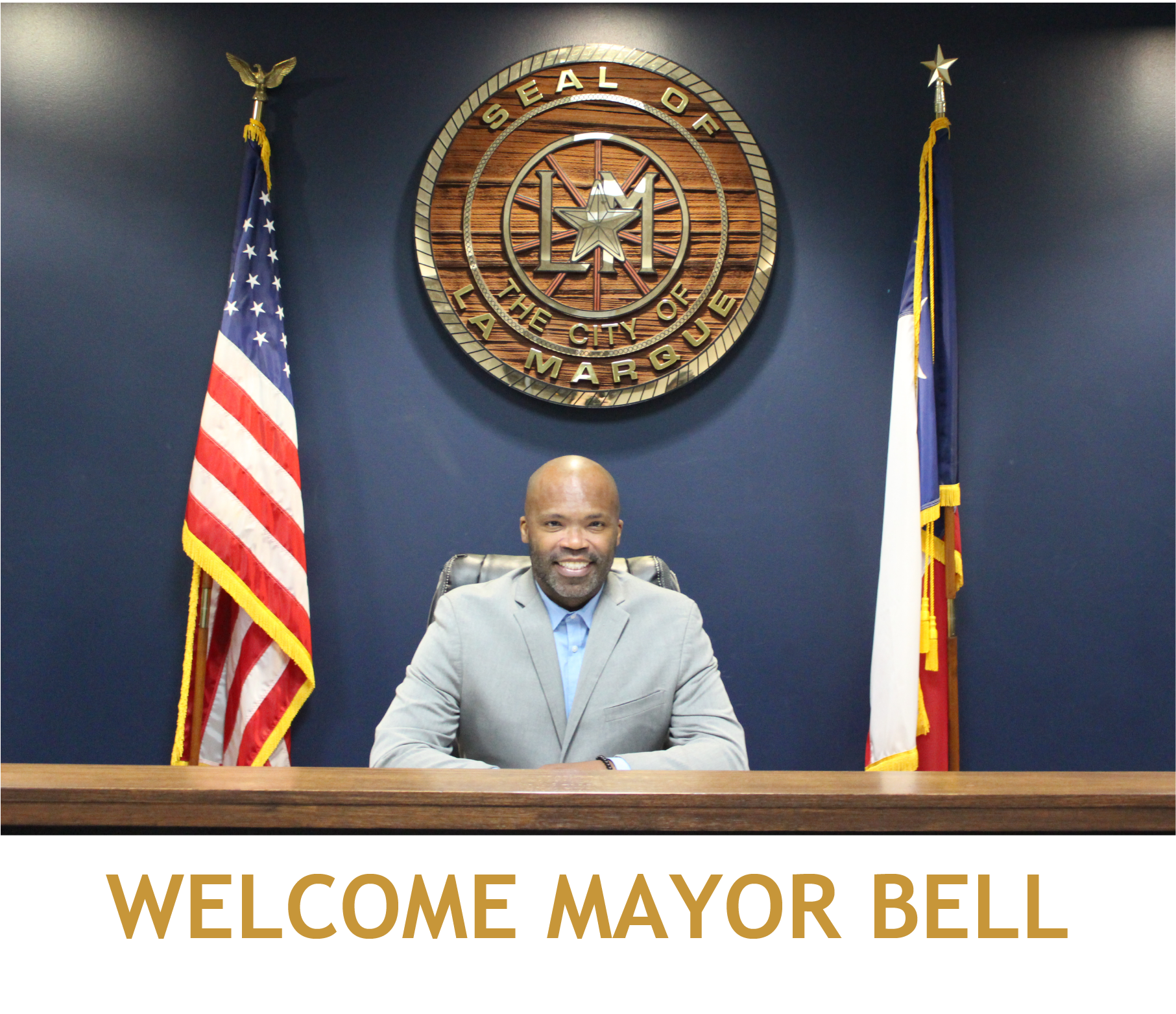 Welcome Mayor Bell at Council Chambers