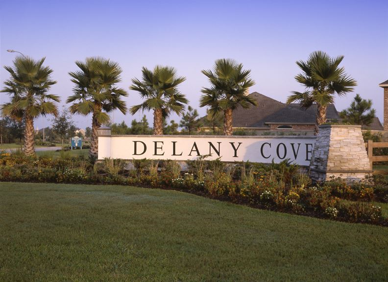 Delany Cove Entrance sign