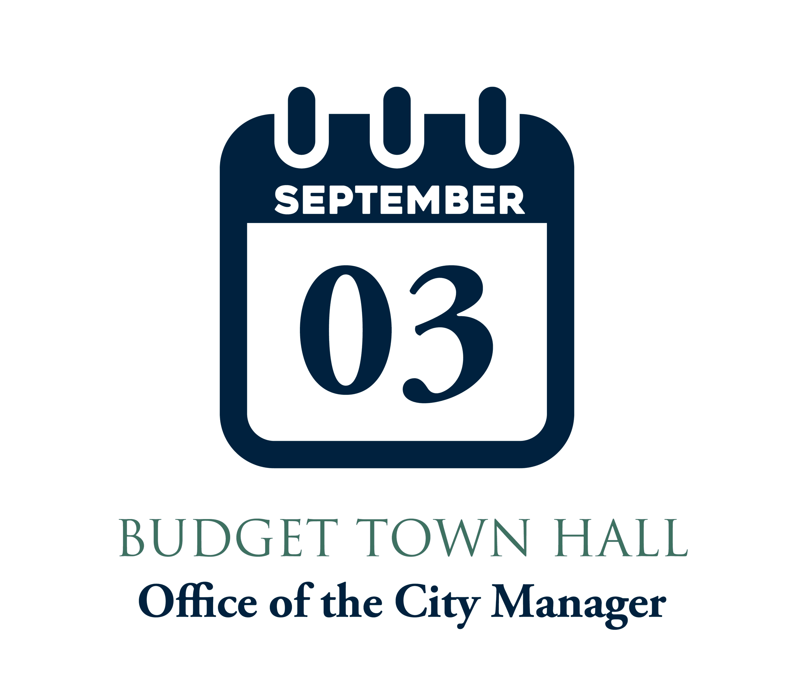 Budget Recap Town Hall_82219 graphic with calendar icon